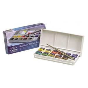 Totenart- Caja acuarela Cotman 12 1/2 godets & pincel