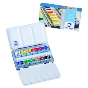 Totenart. Caja metálica con 12 pastillas acuarelas Van Gogh y pincel