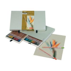 Estuche de 24 lápices pastel Sakura Bruynzeel