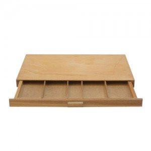 totenart-Caja madera vacia pastel 40x24.3x2.7cm