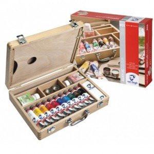 Caja de madera con 10 colores acrílicos Van Gogh (40 ml)