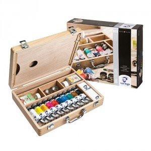 totenart-Caja de madera con 10 colores óleo Van Gogh (40 ml)