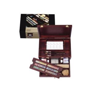 Totenart. Caja madera Master 42 pastillas de acuarelas Rembrandt
