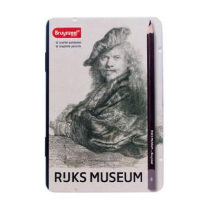 Totenart-Caja Edición Especial 12 lápices Grafito Bruynzeel- Autorretrato Rembrandt