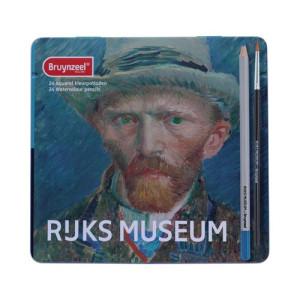 Totenart-Caja Edición Especial 24 lápices acuarelables Bruynzeel- Autorretrato Van Gogh