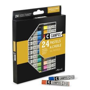 totenart-Caja pastel al Oleo 24 colores Campus Raphael