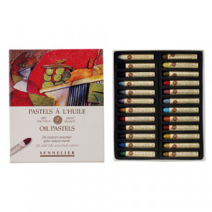 Caja pastel Oleo Sennelier 24 colores, Set Naturaleza muerta