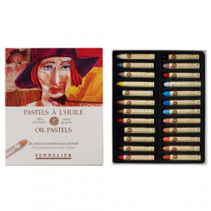 Caja pastel Oleo Sennelier 24 colores, Set Retrato