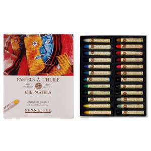 Caja pastel Oleo Sennelier 24 colores, Set Universal