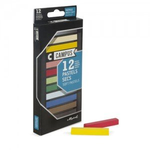 totenart-Caja pastel seco 12 colores Campus Raphael