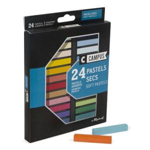 totenart-Caja pastel seco 24 colores Campus Raphael