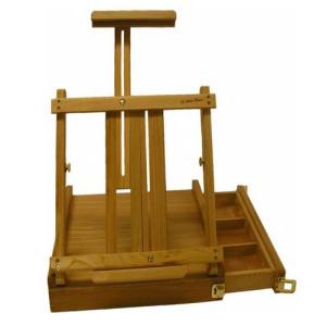 Caja de madera con atril (38x40x10 cm)