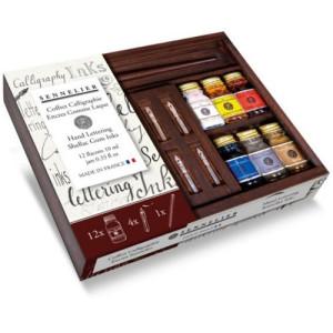 Caja Caligrafía 12 tintas 10 ml + accesorios, Sennelier *