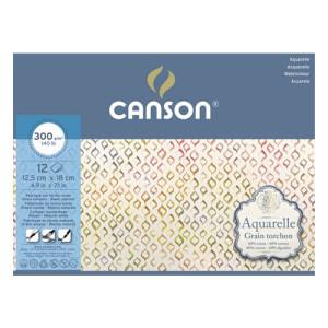 Acuarela Canson (Block), 20h., 300 gr., 25x36 cm., Grano grueso