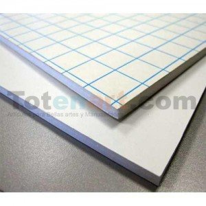 Totenart-Carton Pluma Blanco Adhesivo, 10 mm., 153x305 cm., caja 10 unidades