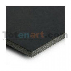 Totenart-Carton Pluma Negro Adhesivo, 10 mm., 100x200 cm., caja 15 unidades