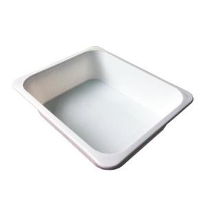 Cubeta de plastico para agua (no apta para ácidos), 25,5x31x5,5 cm. aprox