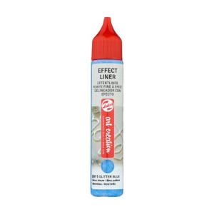Delineador Efecto Azul Brillo 8911, 28 ml. ArtCreation
