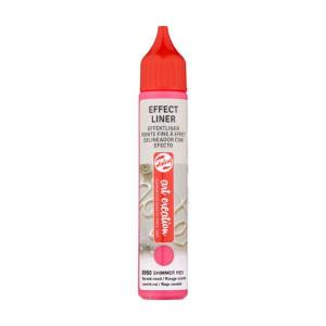 Delineador Efecto Rojo Centelleante  8950, 28 ml. ArtCreation