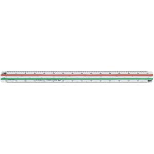 Escalímetro triangular de plástico 30 cm profesional Faber-Castell