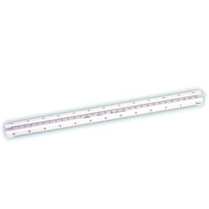 Escalímetro triangular de plástico 30 cm para estudiante Faber-Castell