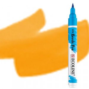 totenart-Rotulador Acuarela Ecoline Brush Pen Amarillo Oscuro