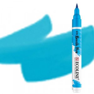 totenart-Rotulador Acuarela Ecoline Brush Pen Azul Turquesa