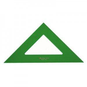 totenart-Escuadra 21 cm. verde Faber Castell