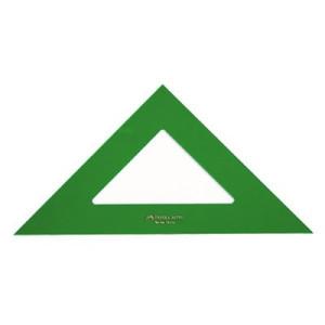 totenart-Escuadra 32 cm. verde Faber Castell