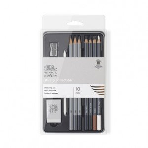 Estuche de 10 lápices de esbozo Studio Collection Winsor&Newton