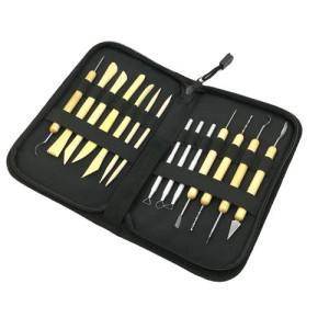 Estuche cremallera 14 herramientas para ceramica