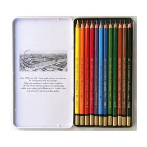 Totenart-Estuche de 12 lápices acuareables Mondeluz Koh-i-Noor