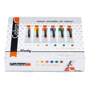 totenart-Estuche con 6 colores óleo al agua Cobra Study (20 ml)