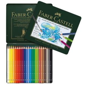 totenart-Caja metal 24 lápices de color acuarelables para Artistas Faber-Castell