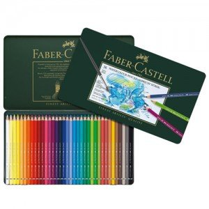 totenart-Caja metal 36 lápices de color acuarelables para Artistas Faber-Castell