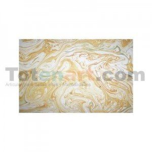 totenart-Guarda aguas hecha a mano, amarilla