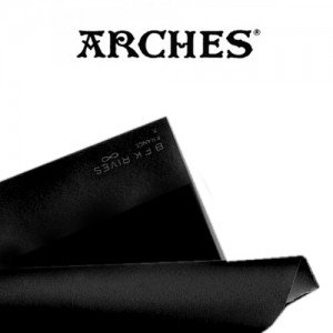 totenart-Hoja Velin BFK Rives de Arches 280 gr, 56x76 cm, Negro