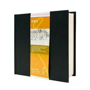 Libro de Bosquejo D&S tapa negra, 140gr, 19'5 x 19'5 cm, 80 h