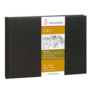 Libro de Bosquejo D&S tapa negra, 140gr, 12'5 x 9 cm P, 30 h