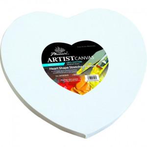 Lienzo forma corazón, 40x40 cm.