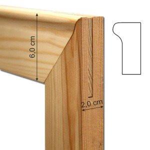 Travesaño de madera de 89 cm. (grosor 2 cm.) para bastidor