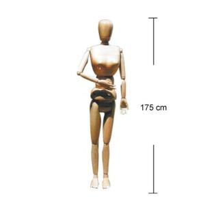 totenart-Maniqui articulado 175 cm., femenino, madera natural