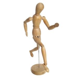 totenart-Maniqui articulado 40 cm., femenino, madera natural
