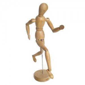 totenart-Maniqui articulado 50 cm., femenino, madera natural