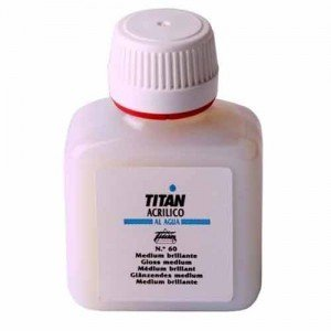 totenart-Medium acrílico brillante Titan (250 ml)