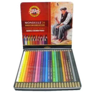 totenart-Estuche de 24 lápices acuareables Mondeluz Koh-i-Noor