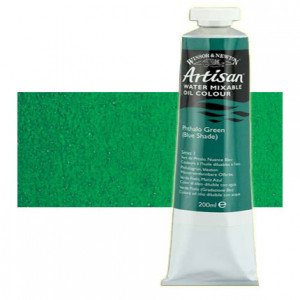 Óleo al agua Winsor & Newton Artisan color verde ftalo sombra azul (200 ml)