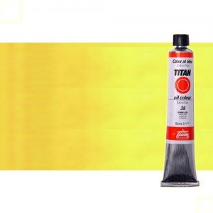 Óleo Titan extra fino color amarillo Titan medio (60 ml)