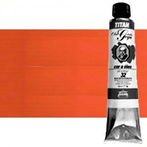 Totenart-Óleo Titan Goya color rojo Goya escarlata, 200 ml.