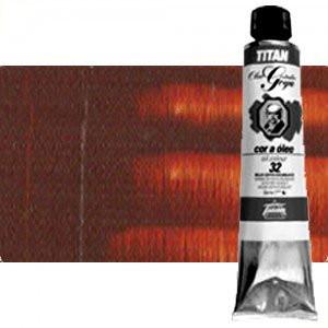Totenart-Óleo Titan Goya color tierra siena tostada, 200 ml.